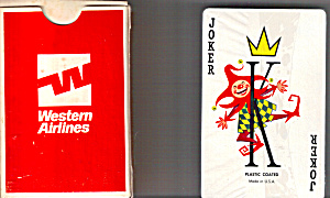 Deck Of Western Airlines Playing Cards