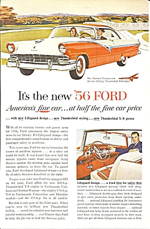 A Nostalgic Automobile Ad Lot; Ford, Mercury, Continental