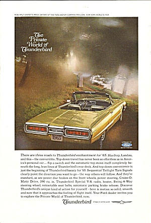 A Nostalgic Automobile Ad Lot; Thunderbirds