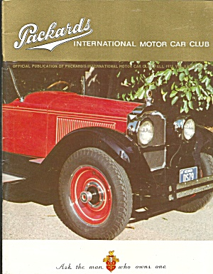 Packards Inter Motor Car Club Magazine Fall 1971 Vol 8 No.3 B2820