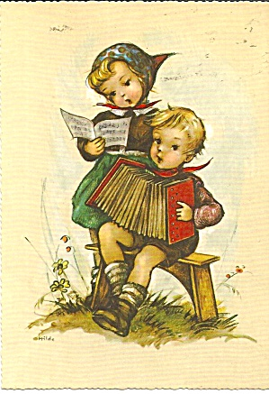 Hummel Like Children Postcard Cs11183