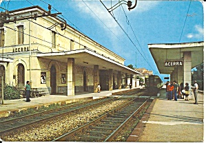 Acerra Naples Italy The Railway Station Cs11664