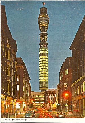 London England Post Office Tower By Night Cs11729