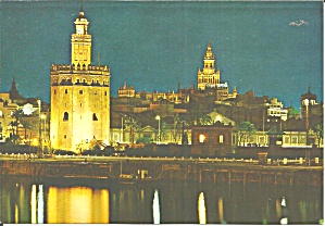 Sevilla Spain Tower Of Gold And Giralda Cs11765