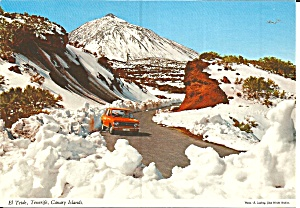 Tenerife Canary Islands Snow On El Teide Cs11881