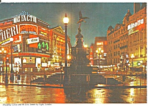 London England Piccadilly Circus At Night Cs11886