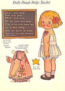 Dolly Dingle Helps Teacher Grace G Drayton Postcard