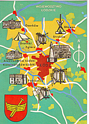 Map Of Areas Of Lodz Poland