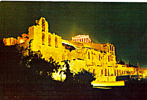 Athens, Greece, The Odeon Of Herode Atticos