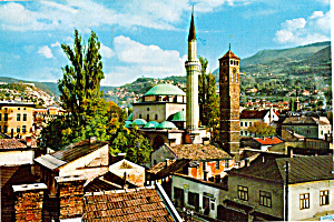 Sarajevo, Yugoslavia, Mosque Of The Bey And Clock Tower