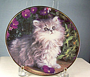 Franklin Mint Purrfection Cat Plate