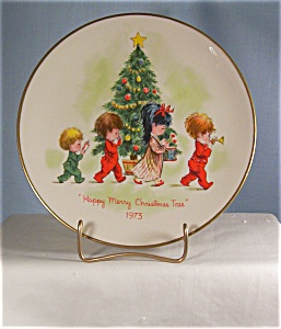 Gorham Moppets 1973 First Edition Christmas Plate