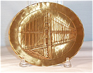 Solid Bronze Golden Gate Bridge Collector's Plate