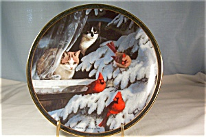Nosy Neighbors-bird Watchers- Cat/bird Coll Plate