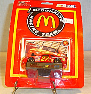 #27 Hut Stricklin Mcdonald S Diecast Promo Package