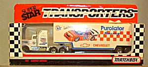 #10 Derrick Cope Purolator Matchbox Super Star Transporter