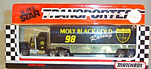 #98 Molly Black Gold Racing Matchbox Super Star Transporter