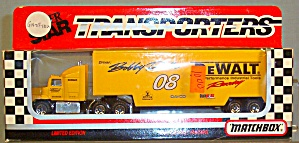 #08 Bobby Dotter Dewalt Tools Racing Matchbox Super Star Transporter