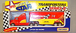 # 74 Johnny Benson Lipton Racing Matchbox Super Star Transpotrers