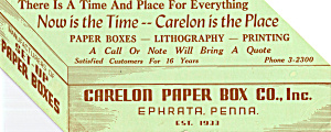 Carelon Paper Box Co Inc Blotter Lp0423