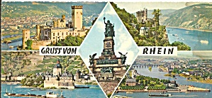 Rhine River Germany Five Views Postcard Lp0752