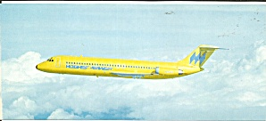 Hughes Airwest Dc-9 In Flight Lp0862