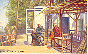 Cairo Egypt Coffee House Raphael Tuck Postcard P18999