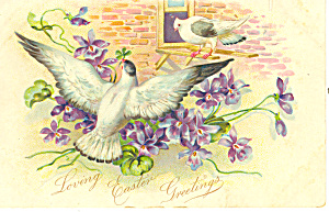 Loving Easter Greetings Raphael Tuck Postcard P19484