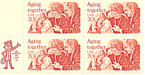 #2011 - 20 Cent Aging Together Mail Early Block
