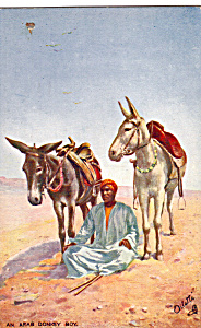 An Arab Donkey Boy Picturesque Egypt Raphael Tuck P25412