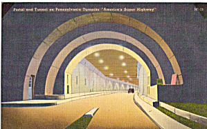 One Of Tunnels On Pennsylvania Turnpike Postcard P29246