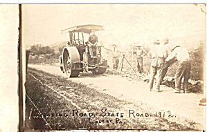 Early Road Paving Scene Pennsylvania 1912 P30544
