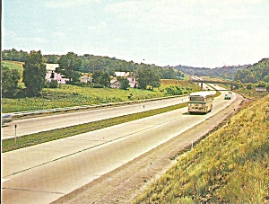 Pa Turnpike Near Ohio River Howard Johnson Card P31131