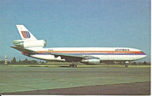 United Airlines Dc-10-10 N1824u Postcard P36206