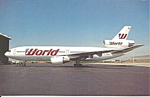 World Dc-10-10 N1826us Postcard P36214