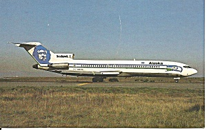 Alaska Airlines Eskimo 727-2q8 N297as Postcard P36221