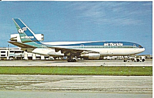 Air Florida Dc-10-30cf N101tv Postcard P36227