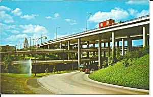 Los Angeles Ca Network Of Freeway Postcard P36371