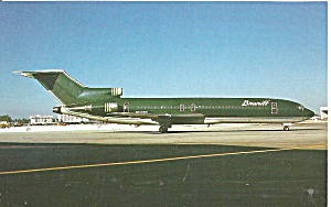 Braniff International 727-227 N456bn Postcard P36477