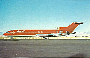Braniff International 727-227 Postcard P36481