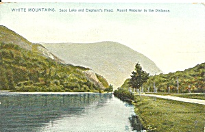 White Mts Nh Saco Lake Raphael Tuck Postcard P36615