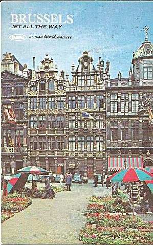 Brussels Belgium Postcard Issued By Sabena World Airlines P36818