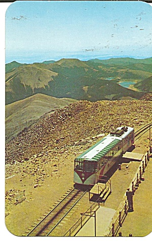 Pikes Peak Co Cog Train At Summit P37112