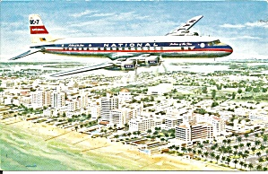 National Airlines Postcard Dc-7 P37525