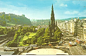 Edinburgh Scotland Princes Street Scott Monument P37622