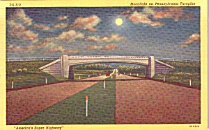Moonlight On The Pennslyvania Turnpike Postcard P37949