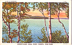 Lake Scene Of Port Ewen Ny P38573
