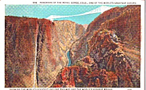 Royal Gorge Co Panorama Showing Incline P38592