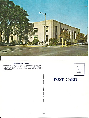 Moline Il Post Office P38654