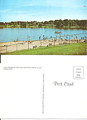 Lake Macbride Ia Swimming Beach P38656
